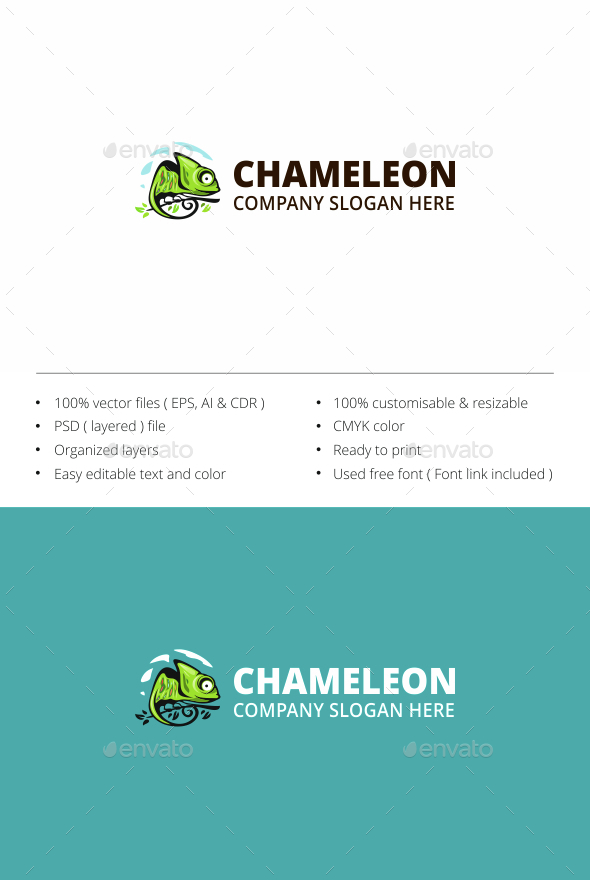 Chameleon - Animals Logo Templates