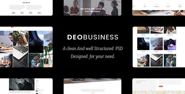 DeoBusiness | Multi-Purpose Business PSD Template - PSD Templates
