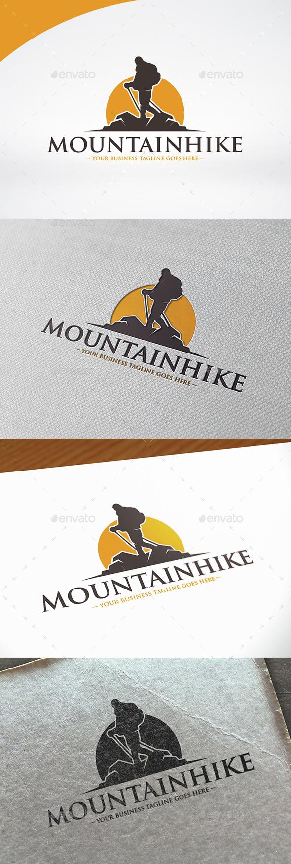 Mountain Hike Logo Template - Nature Logo Templates