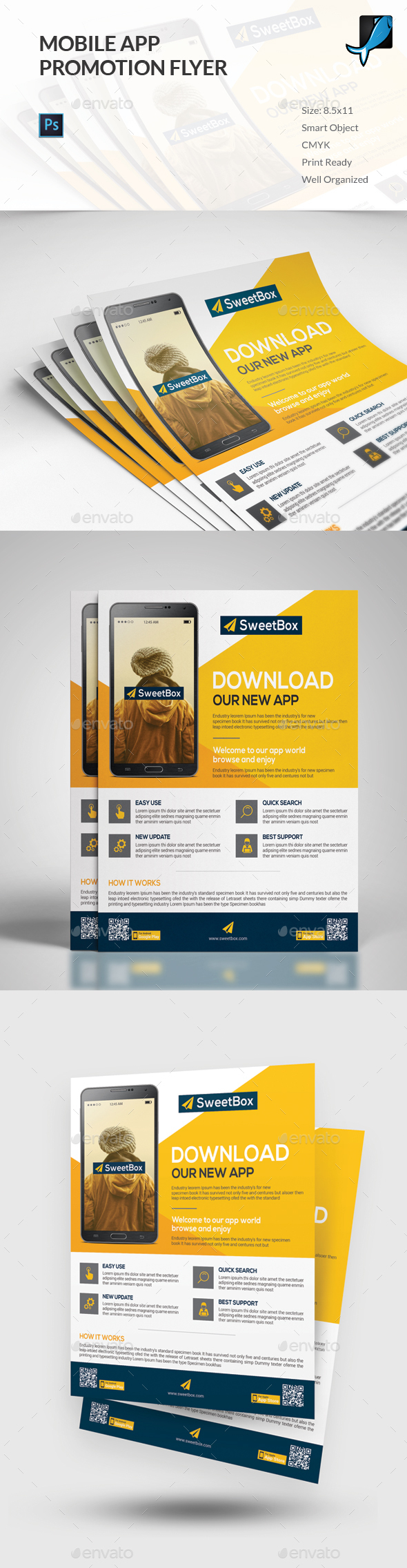 Mobile App Flyer Template - Commerce Flyers