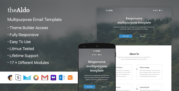 Aldo – Responsive Email + StampReady Builder