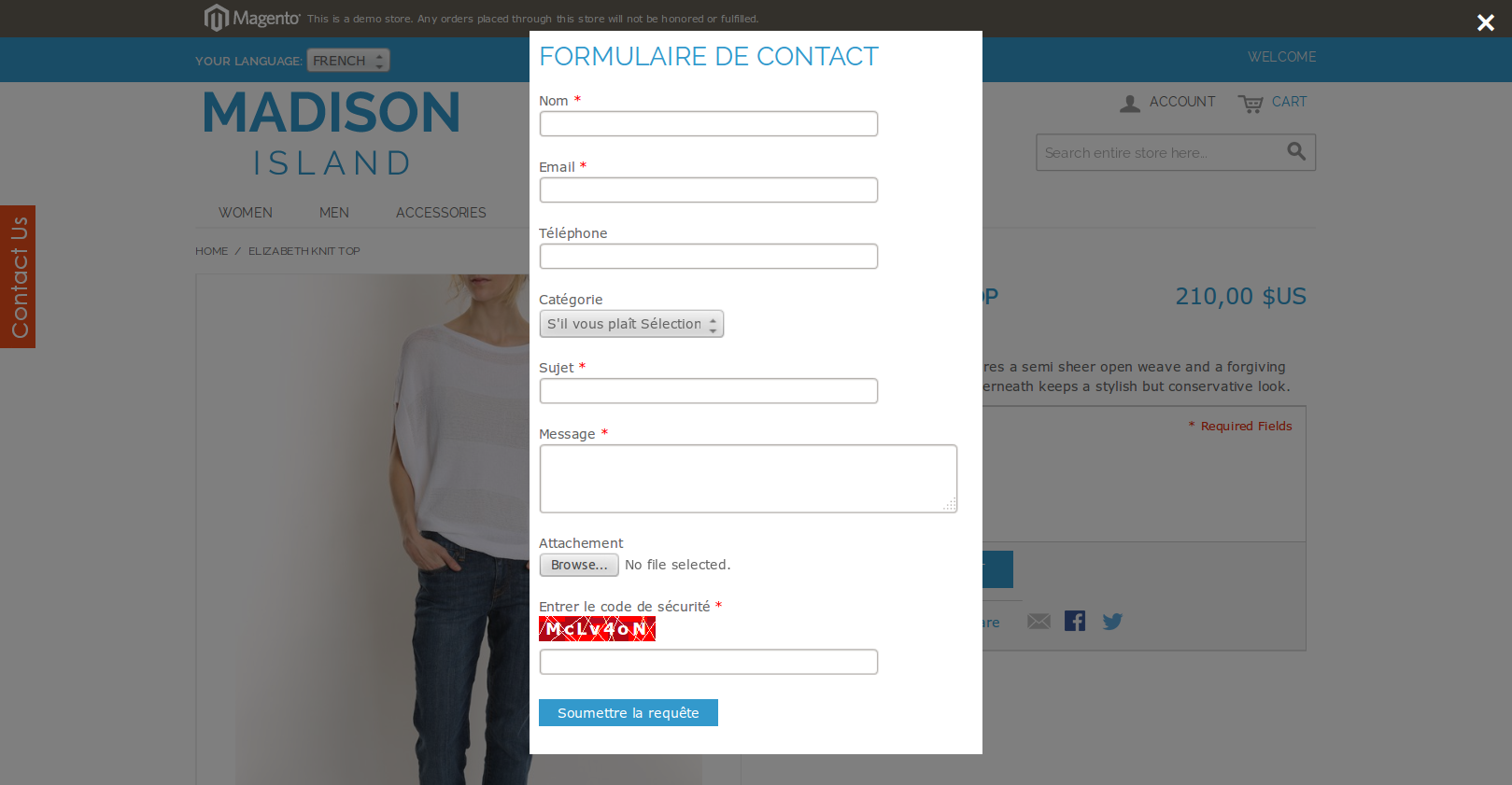 Easy Contact Form Magento Extension by vivacityinfotech | CodeCanyon