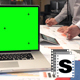 Business Office Green Screen Laptop - VideoHive Item for Sale
