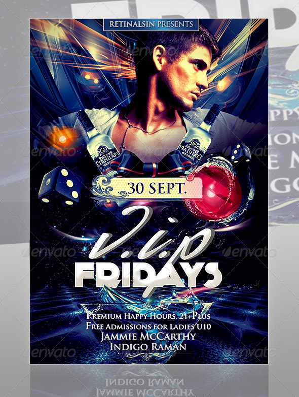V.I.P Fridays Flyer Template - Clubs & Parties Events