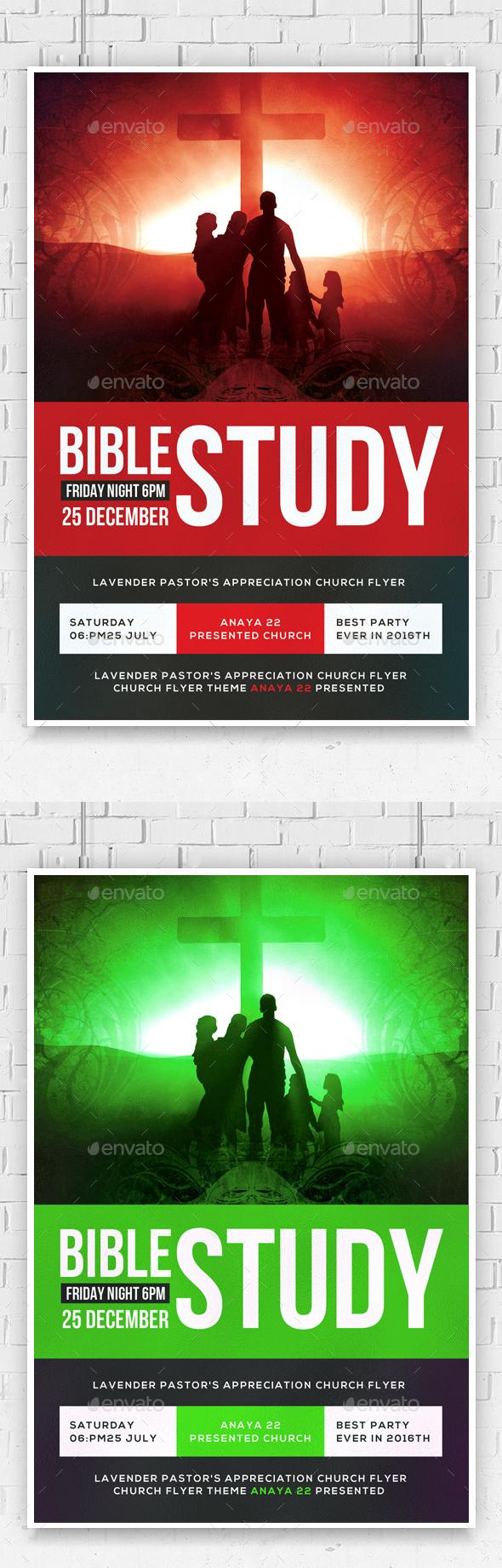 The Bible Study Church Flyer  - Church Flyers