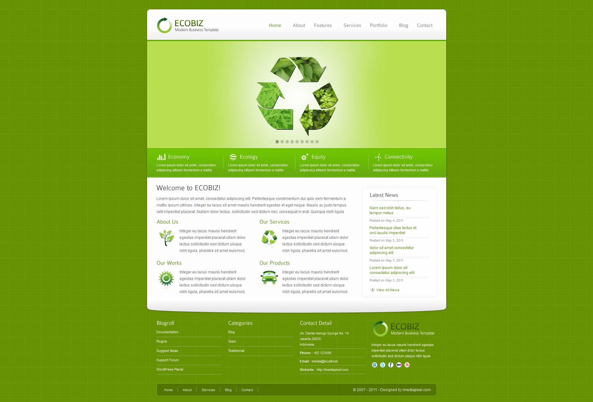 ecobiz theme wordpress