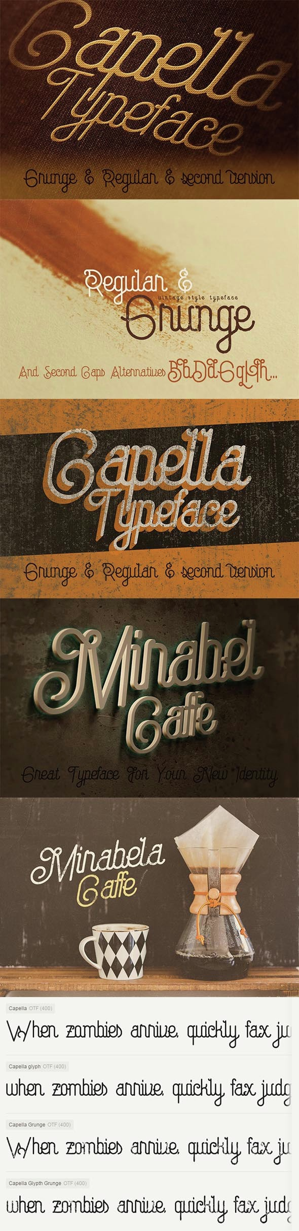 Capella Typeface - Script Fonts