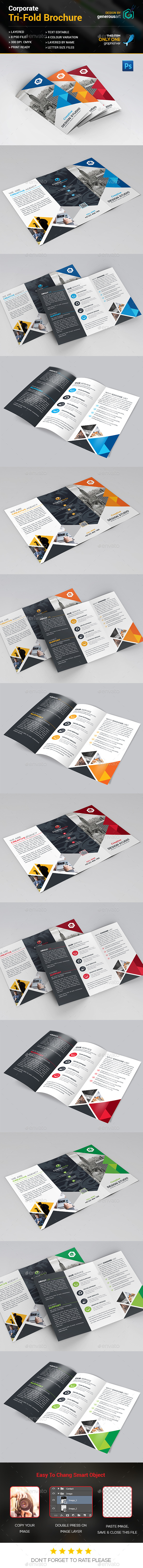 Modern Tri-Fold Brochure - Corporate Brochures