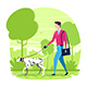 Man Walking with Dalmatian - GraphicRiver Item for Sale