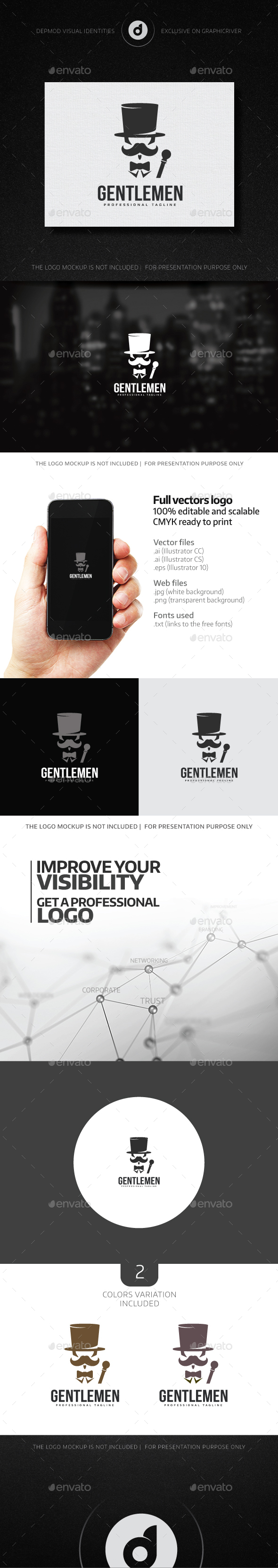 Gentlemen Logo - Humans Logo Templates