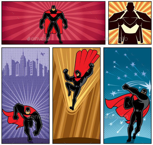 Superhero Banners 5 - People Characters