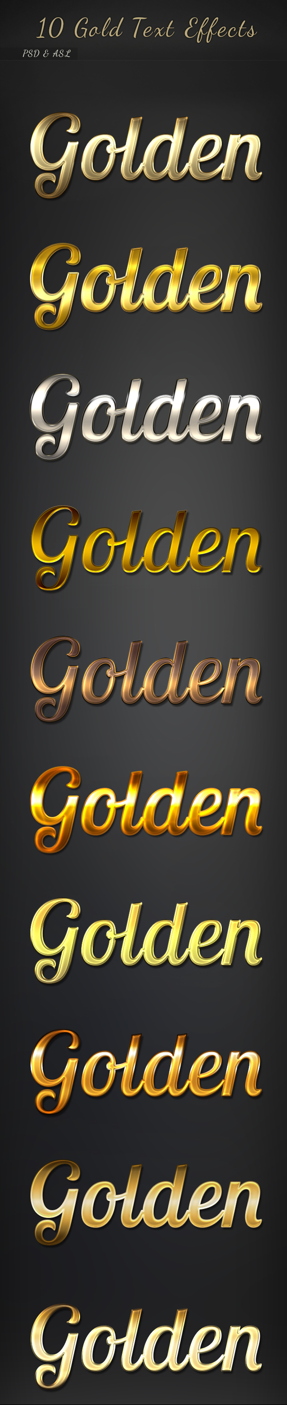 10 Gold Text Effects - Text Effects Styles