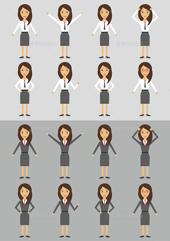 Character Business Woman - Characters Vectors