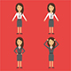 Character Business Woman - GraphicRiver Item for Sale