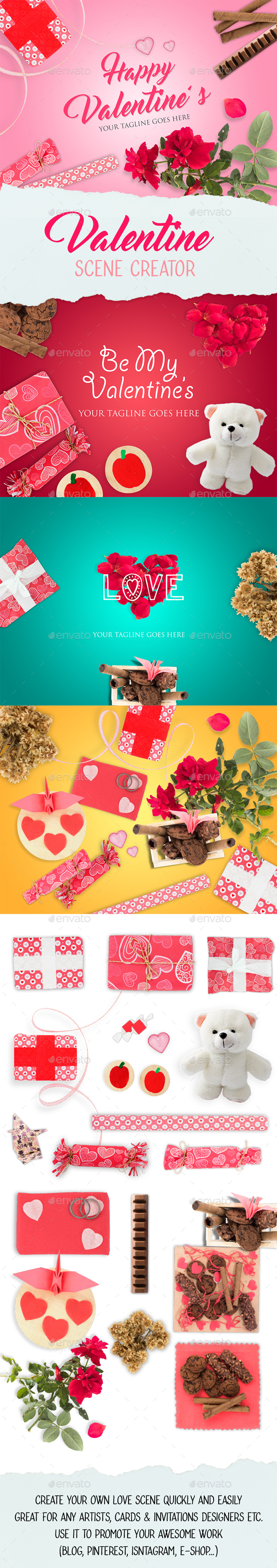 Valentine Scene Creator - Hero Images Graphics