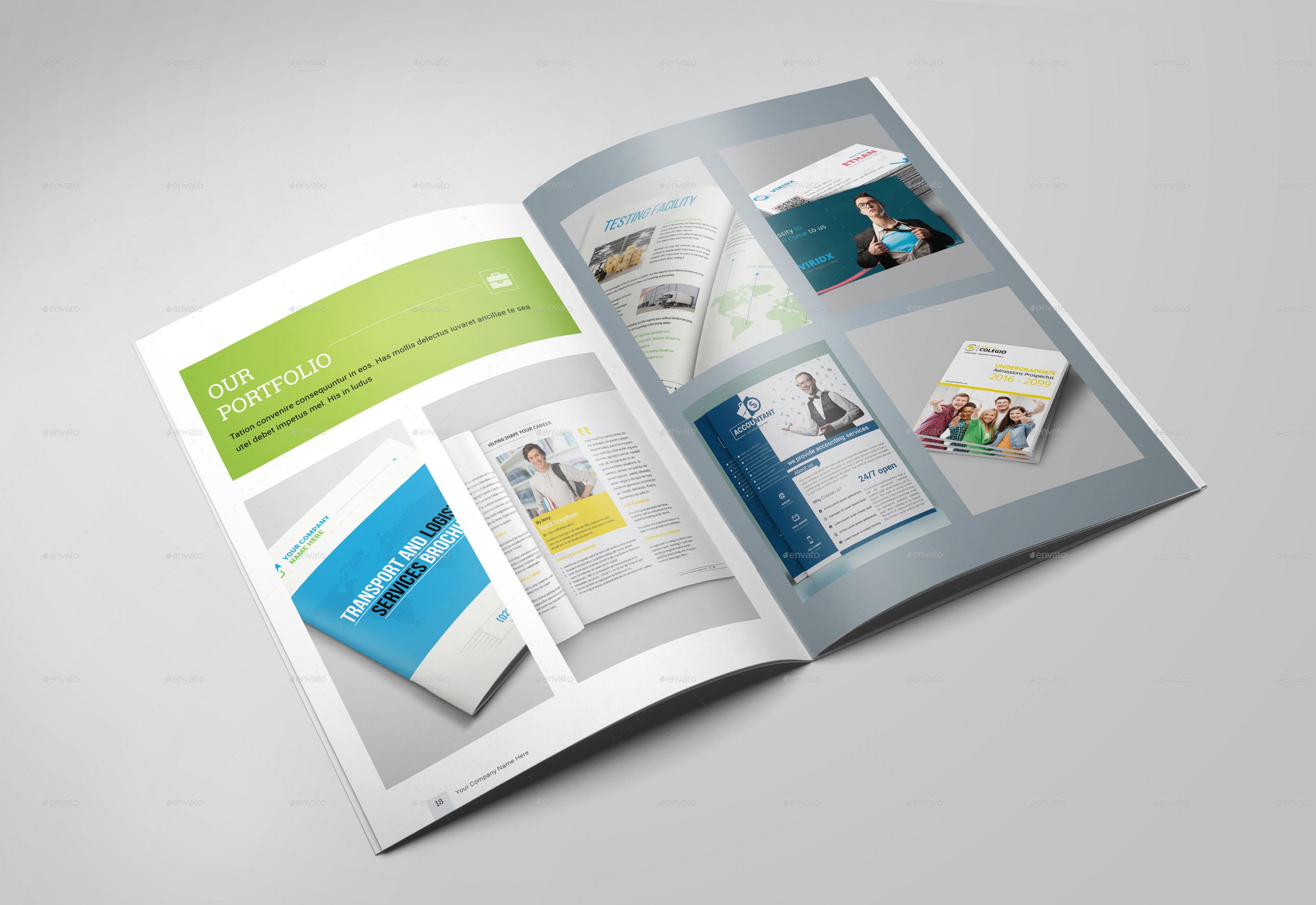 Portrait Brochure Templates by dotnpix   GraphicRiver