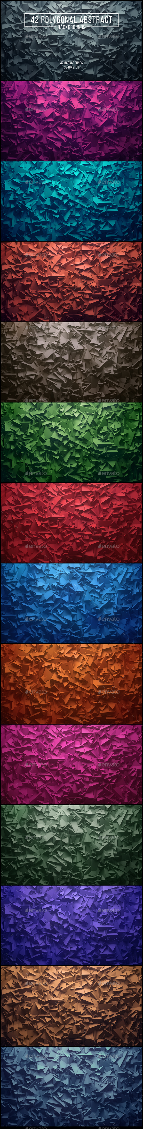42 Polygonal Abstract Backgrounds - Abstract Backgrounds