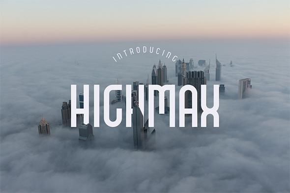 HIGHMAX Typefamily - Condensed Sans-Serif