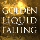 Golden Liquid Falling - VideoHive Item for Sale