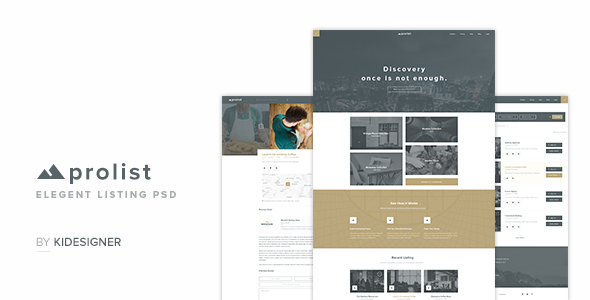 ProList – Elegant Listing PSD Templates