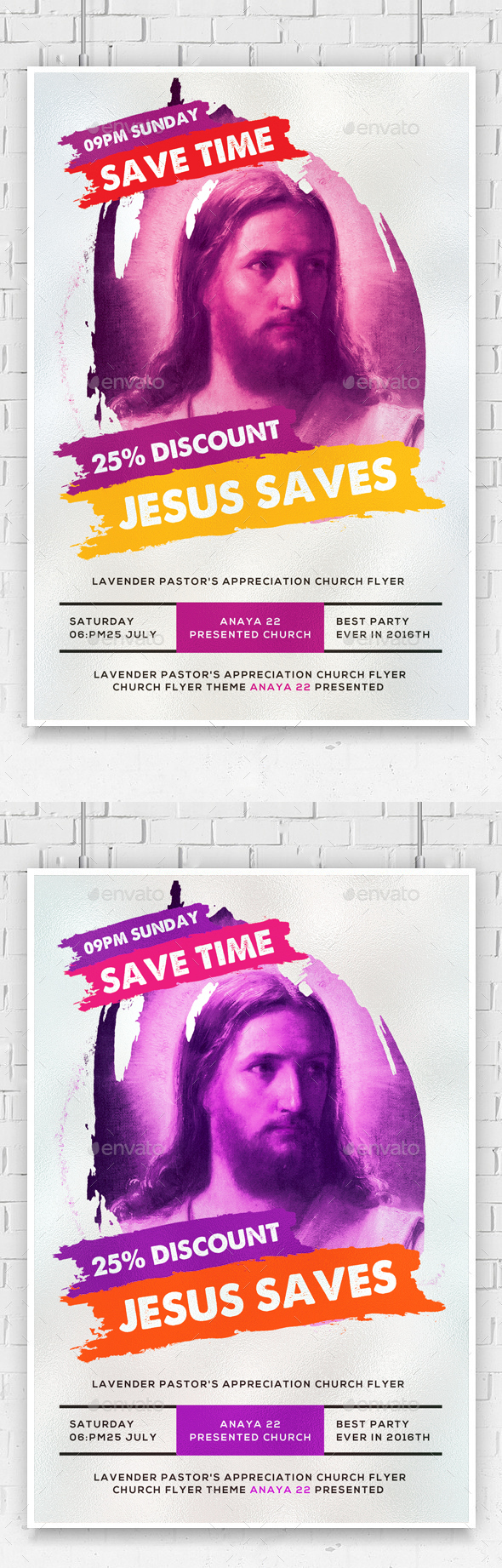 Jesus Saves Flyer Template  - Church Flyers