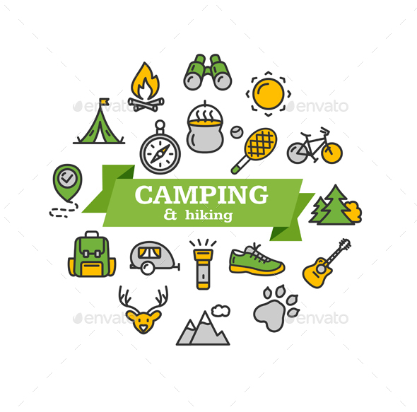 Camping Tourism Hiking Concept - Travel Conceptual