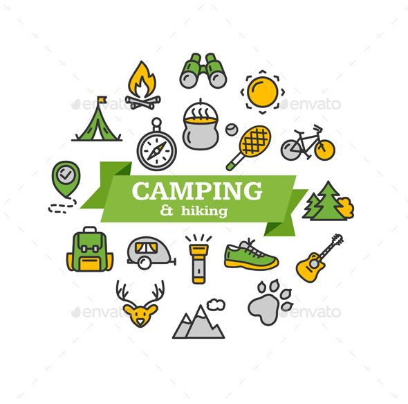 Camping Tourism Hiking Concept - Travel Conceptual