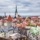 Aerial View Of Tallinn Medieval Old Town, Estonia  - VideoHive Item for Sale
