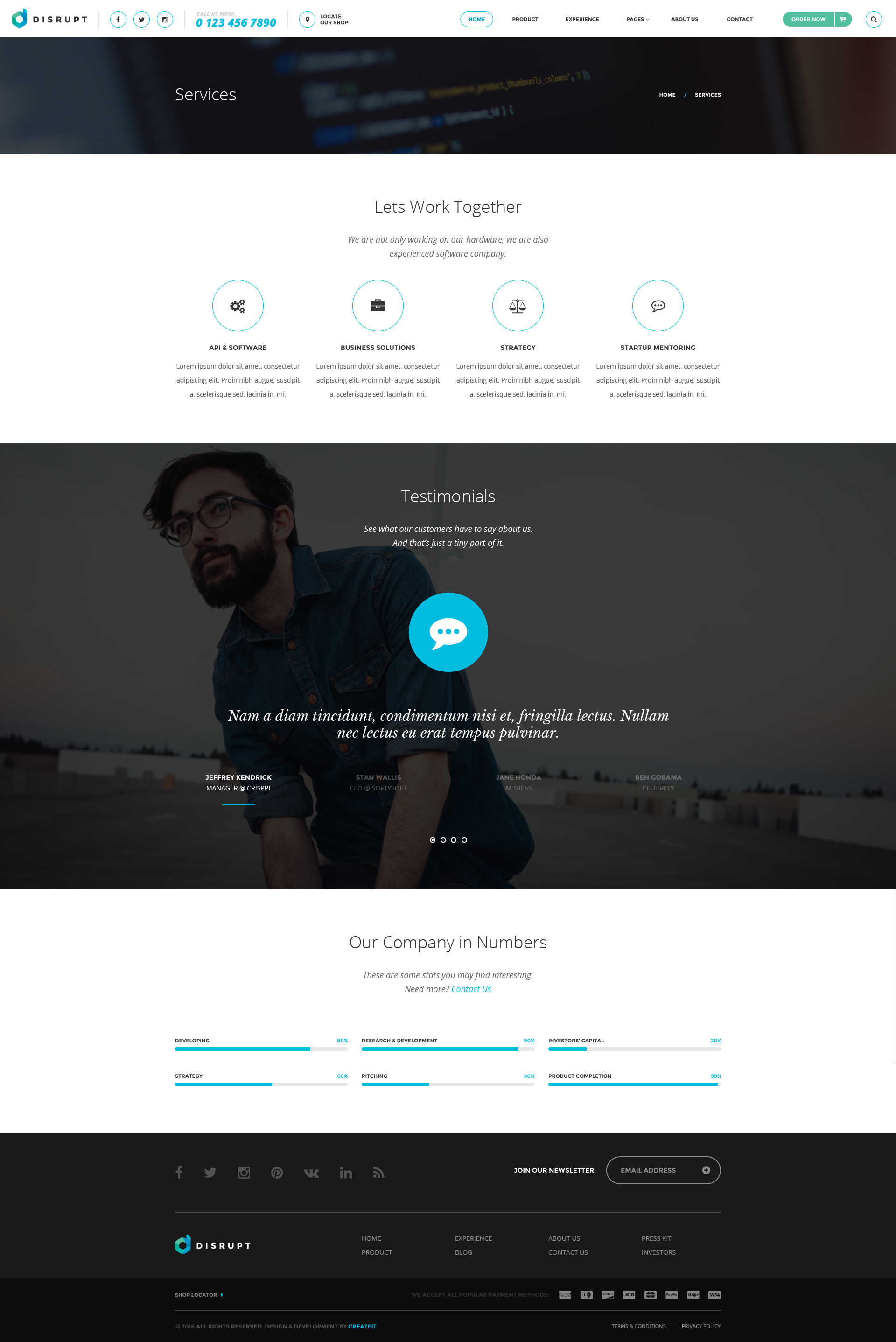 Disrupt - Single Product e-Commerce HTML Template by ThemePlayers ...