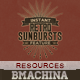 Instant Featured - 77 Retro Sunbursts - GraphicRiver Item for Sale