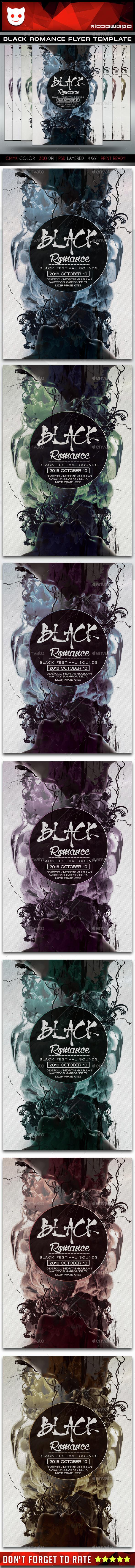 Black Romance Flyer Template - Flyers Print Templates