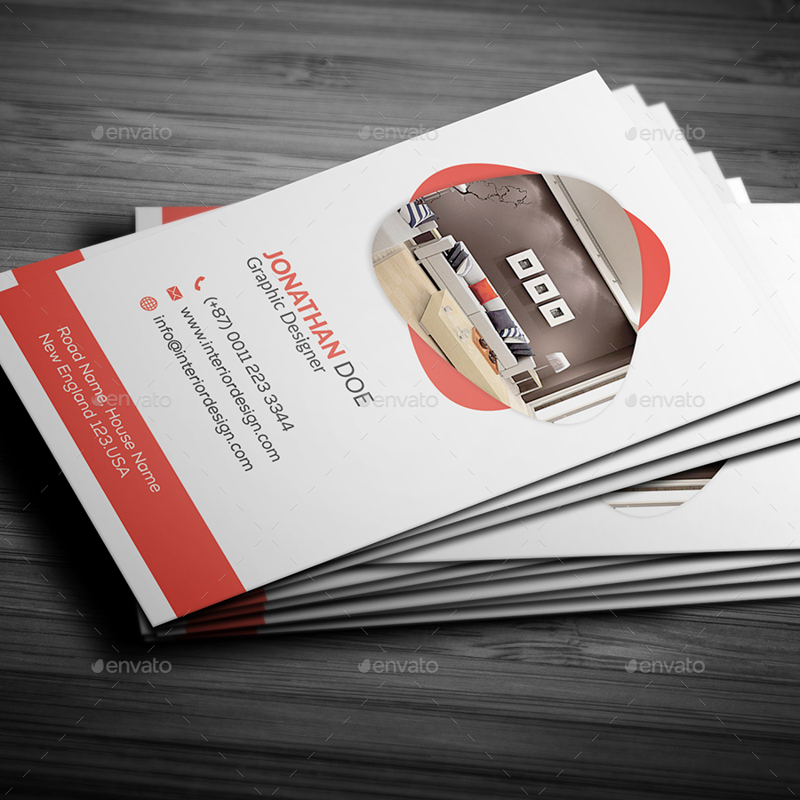 Interior Design Business Card by Pixelpick | GraphicRiver