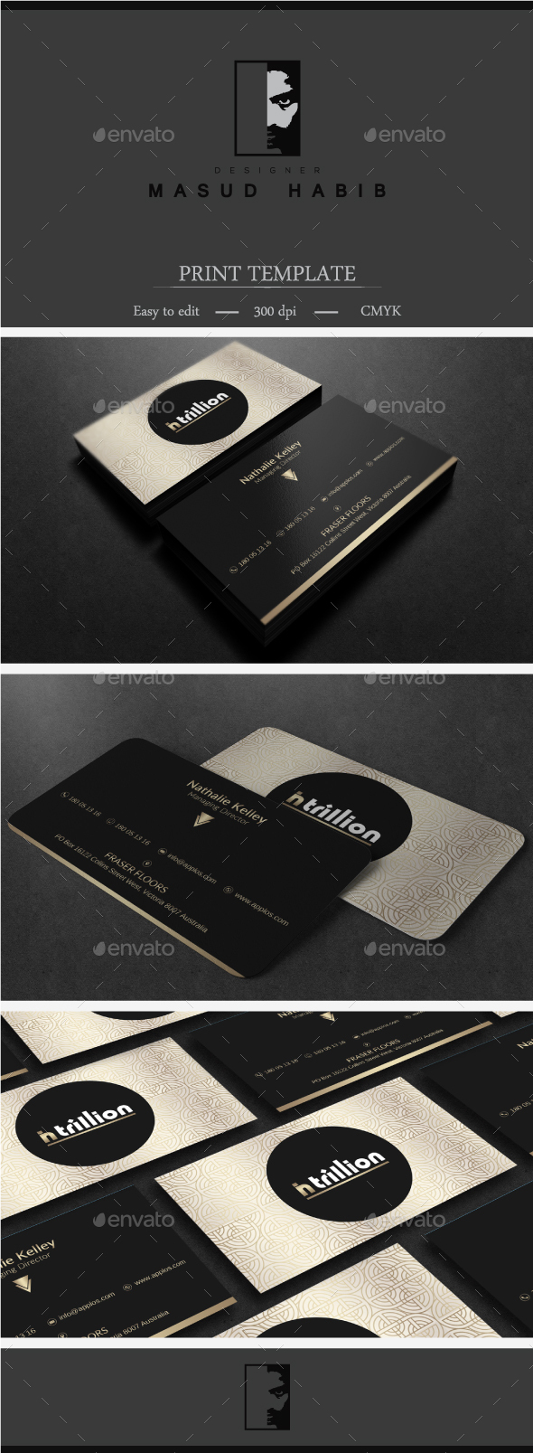 Gold And Black Business Card - Corporate Business Cards