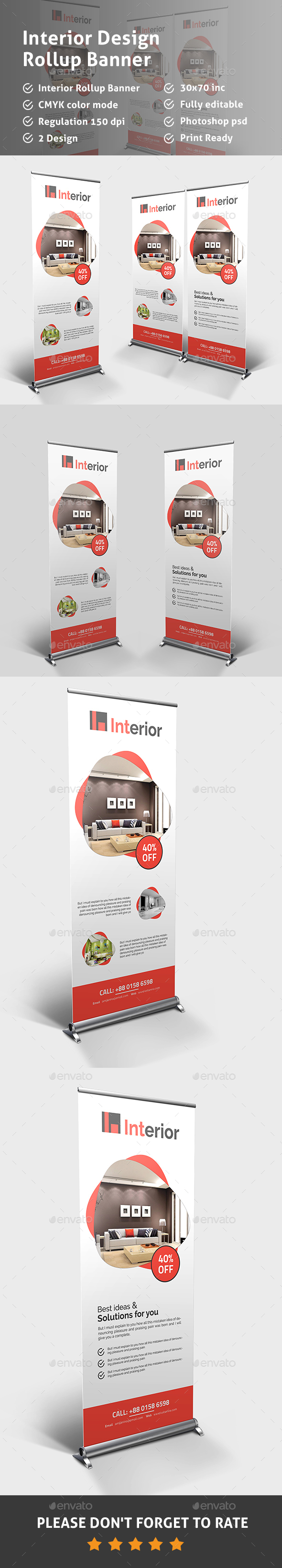 Interior Design Rollup Banner - Signage Print Templates