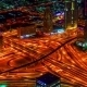 Bird's-eye Night View Highway In Dubai - VideoHive Item for Sale