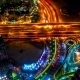 Night View Highway From Aerial In Dubai. - VideoHive Item for Sale