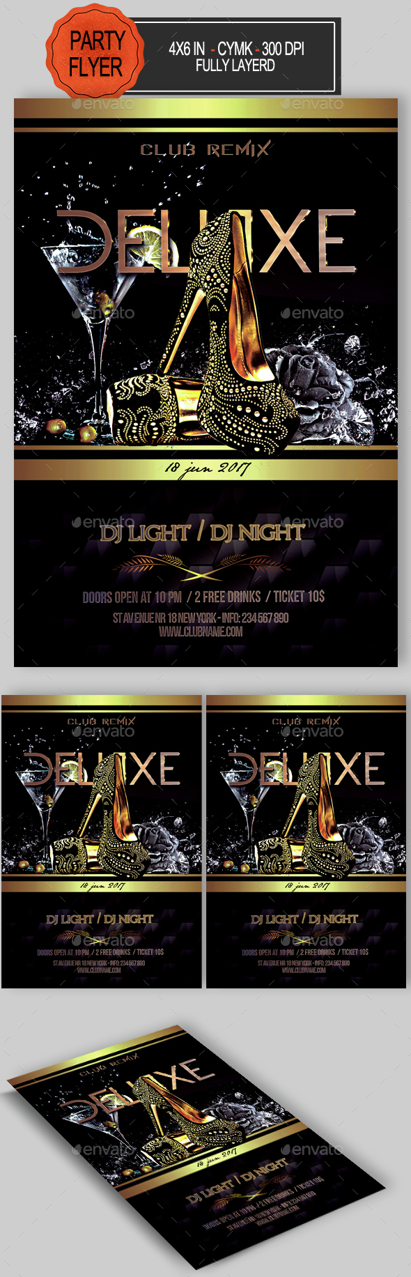 Deluxe Party Flyer - Clubs & Parties Events