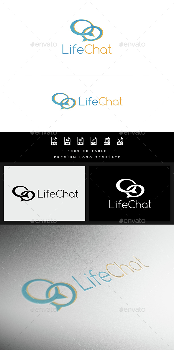 Life Chat - Abstract Logo Templates