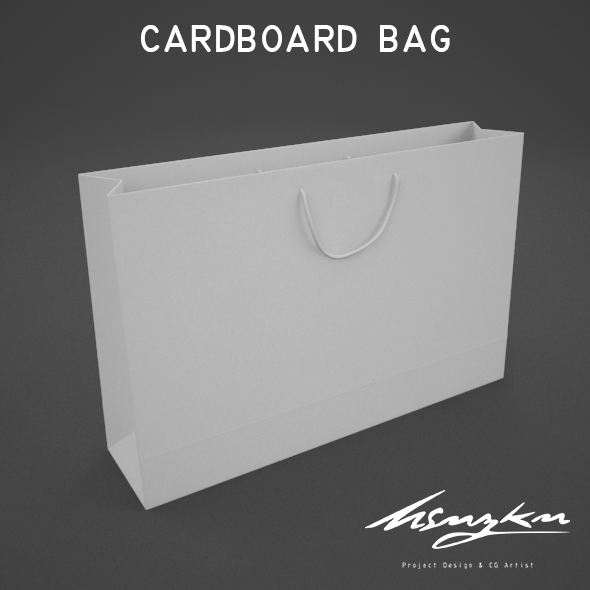 cardboard bag - 3DOcean Item for Sale