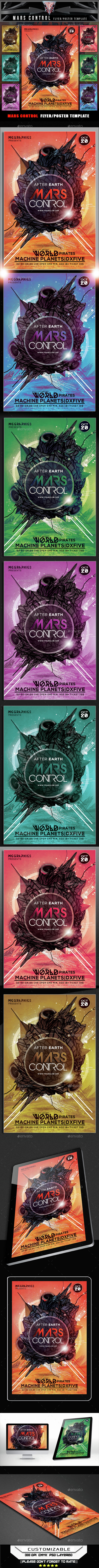 Mars Control Flyer Template - Flyers Print Templates