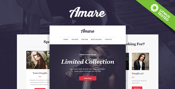 Amare – Responsive Email & Newsletter Template
