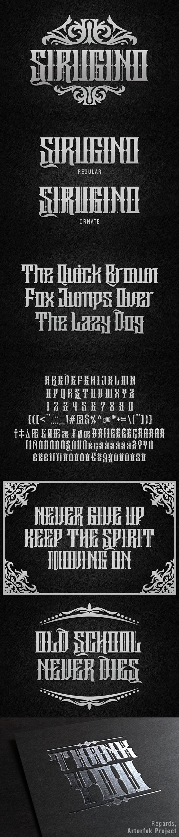 Sirugino Typeface - Gothic Decorative