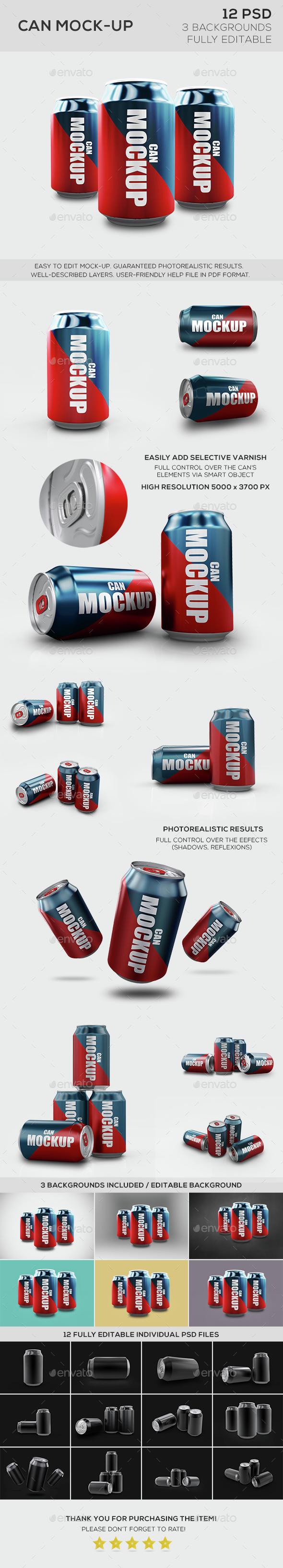 Can Mockup - Product Mock-Ups Graphics