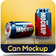 Can Mockup - GraphicRiver Item for Sale