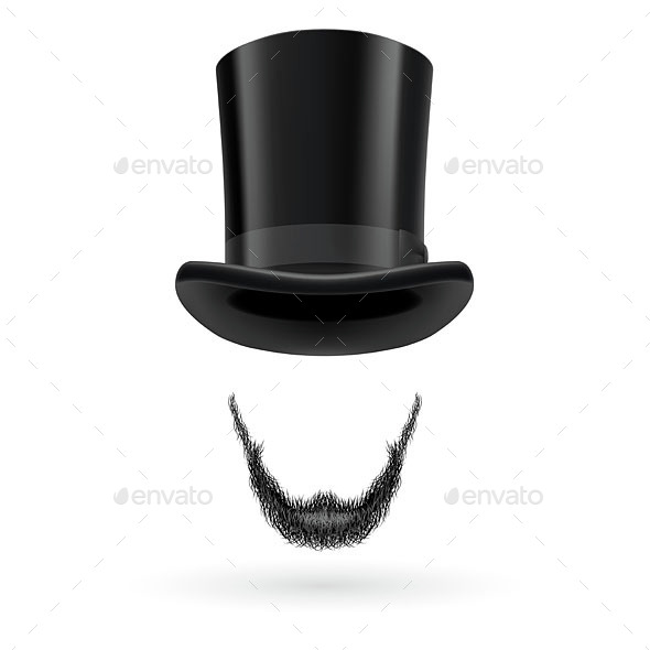 Invisible Man in Top Hat - Miscellaneous Vectors