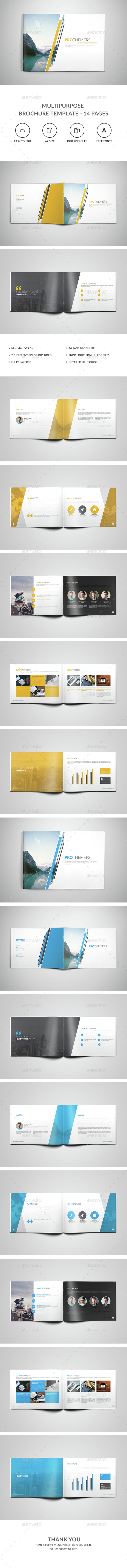 Multipurpose Brochure Template – 14 Pages - Corporate Brochures