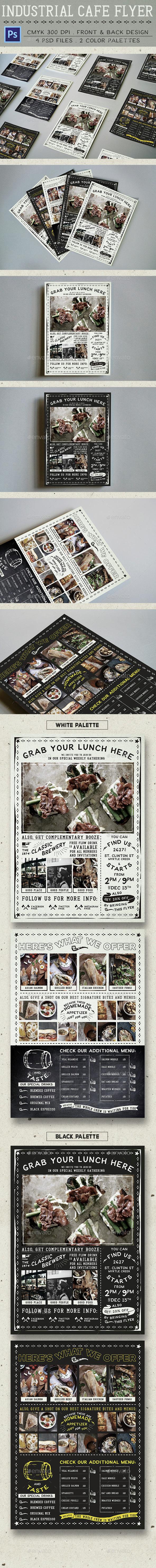 Industrial Cafe Flyer - Food Menus Print Templates