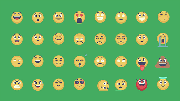 Videohive Animated Emoticons Pack 15083973