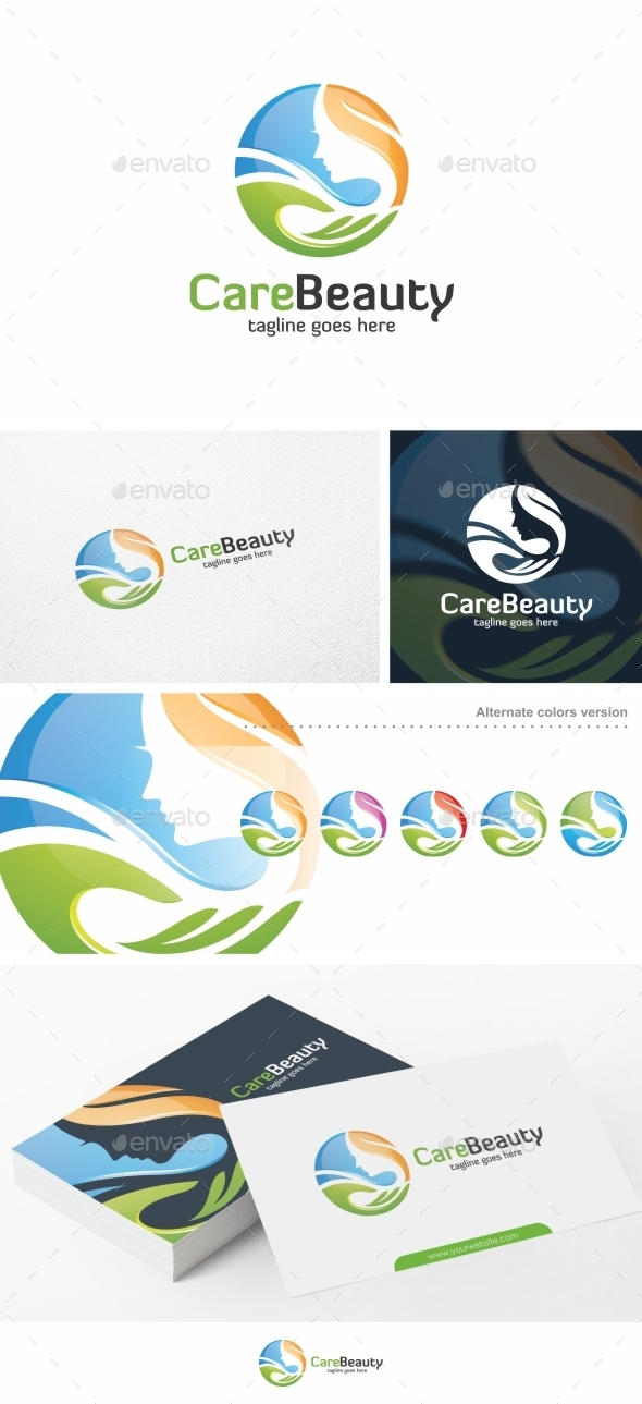 Care Beauty - Logo Template - Humans Logo Templates