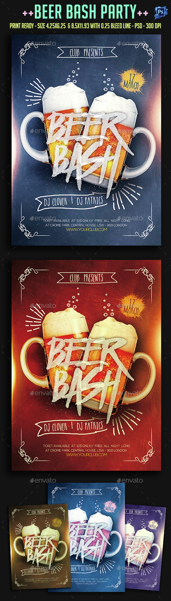 Beer Bash Party Flyer - Clubs & Parties Events